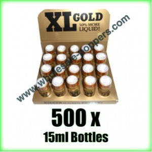 500 x XL Gold poppers wholesale