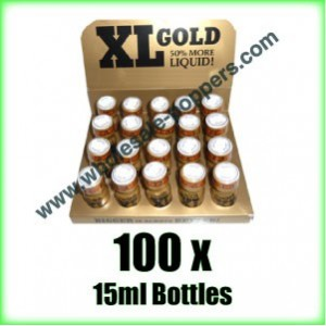 100 x XL Gold poppers wholesale